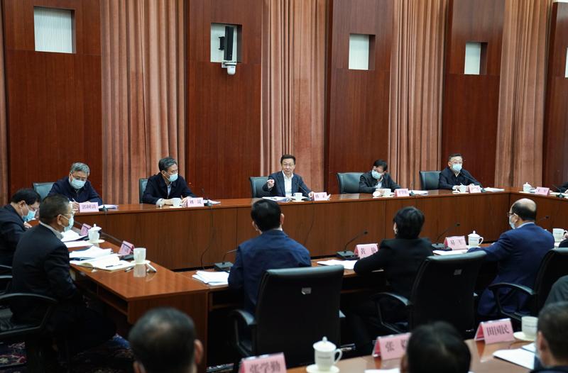 韩正在住房和城乡建设部召开座谈会